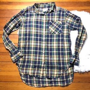 Denim & Supply RL Boyfriend plaid button down top
